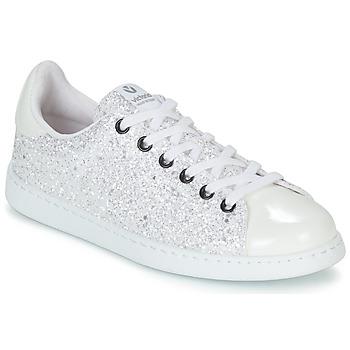 Zapatos Mujer Zapatillas bajas Victoria TENIS GLITTER Blanco