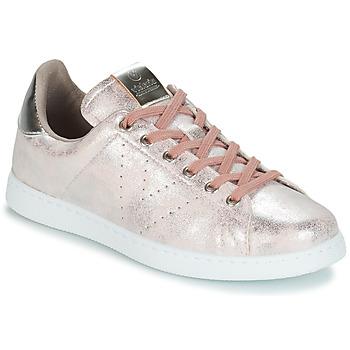 Zapatos Mujer Zapatillas bajas Victoria TENIS METALIZADO Rosa