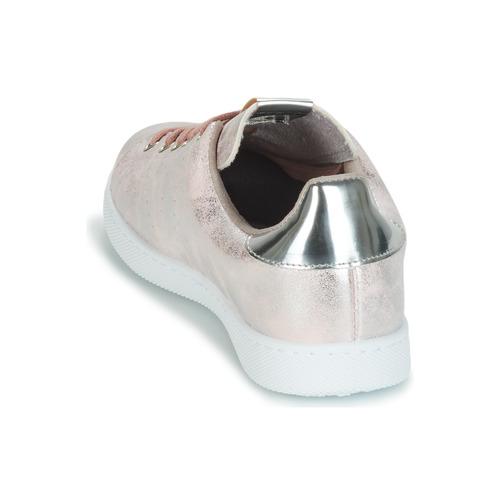 Mujer Rosa Victoria Metalizado Zapatillas Tenis Zapatos Bajas wO80Pkn