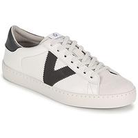 Zapatos Mujer Zapatillas bajas Victoria BERLIN PIEL CONTRASTE Blanco / Gris