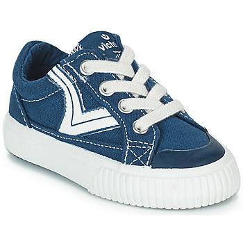 6e1bac8b74a Zapatos Niños Zapatillas bajas Victoria TRIBU LONA RETRO Azul