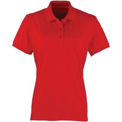 textil Mujer Polos manga corta Premier PR616 Rojo