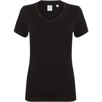 textil Mujer Camisetas manga corta Skinni Fit SK122 Negro