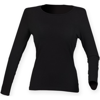 textil Mujer Camisetas manga larga Skinni Fit SK124 Negro
