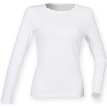 textil Mujer Camisetas manga larga Skinni Fit SK124 Blanco