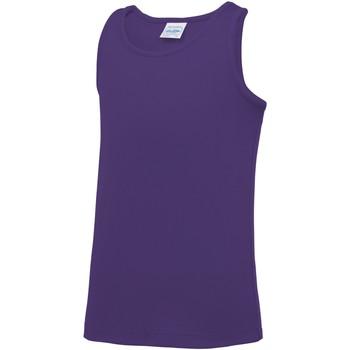 textil Niños Camisetas sin mangas Awdis JC07J Púrpura