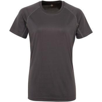 textil Mujer Camisetas manga corta Tridri Panelled Carbón