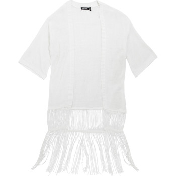 textil Mujer Chaquetas de punto Brave Soul Kimono Blanco