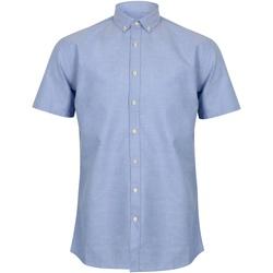 textil Hombre Camisas manga corta Henbury HB517 Azul