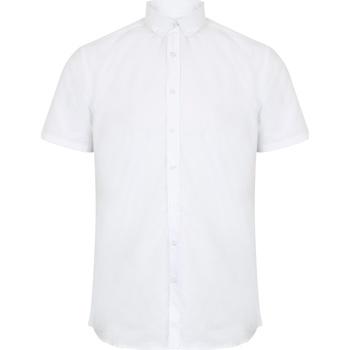 textil Hombre Camisas manga corta Henbury HB517 Blanco
