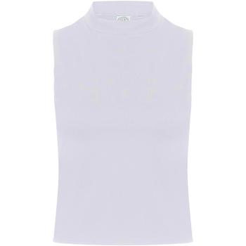 textil Mujer Camisetas sin mangas Skinni Fit SK170 Blanco