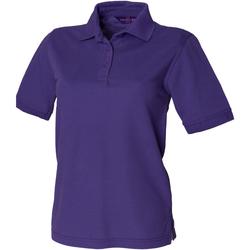 textil Mujer Polos manga corta Henbury HB401 Púrpura