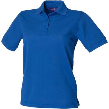 textil Mujer Polos manga corta Henbury HB401 Azul