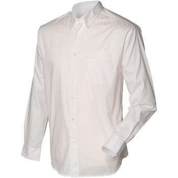 textil Hombre Camisas manga larga Henbury HB550 Blanco