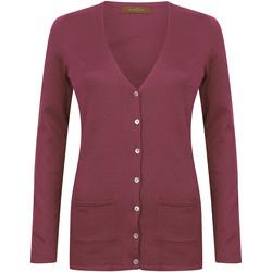textil Mujer Chaquetas de punto Henbury Fine Knit Vino