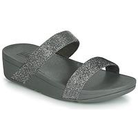 Zapatos Mujer Zuecos (Mules) FitFlop LOTTIE GLITZY SLIDE Plata