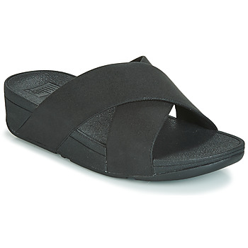 Zapatos Mujer Zuecos (Mules) FitFlop LULU SHIMMERLUX SLIDES Negro
