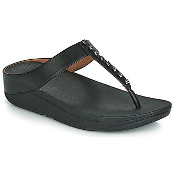 Zapatos Mujer Chanclas FitFlop FINO TREASURE Negro