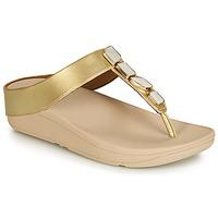 Zapatos Mujer Chanclas FitFlop FINO SHELLSTONE Oro