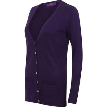 textil Mujer Chaquetas de punto Henbury Fine Knit Púrpura