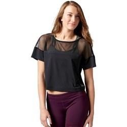 textil Mujer camisetas manga corta Reebok Sport Cardio Fashion Top Negro