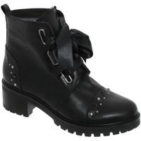 Zapatos Mujer Botines Folies Xally Cuero negro
