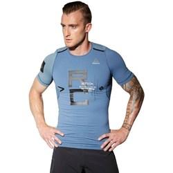 textil Hombre camisetas manga corta Reebok Sport Combat Rash Guard Azul