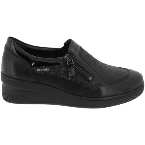 Zapatos Mujer Slip on Mobils By Mephisto Nissia Cuero negro