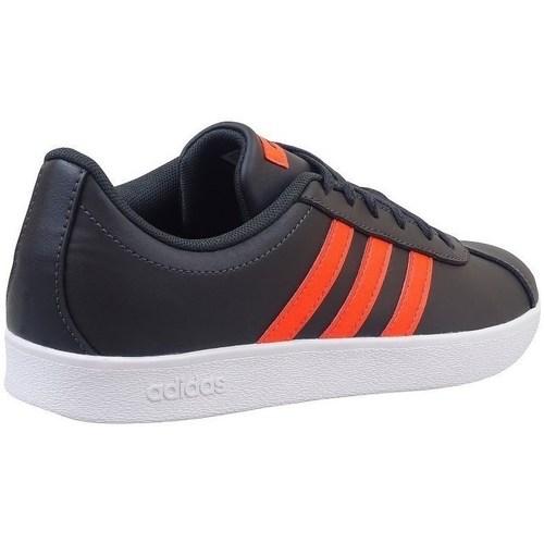 Zapatos Niños Zapatillas bajas adidas Originals VL Court 20 K Negros,De color naranja