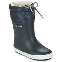 Zapatos Niños Botas de nieve Aigle GIBOULEE Marino / Blanco