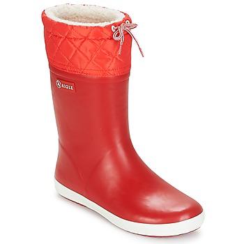 Zapatos Niños Botas de nieve Aigle GIBOULEE Rojo / Blanco