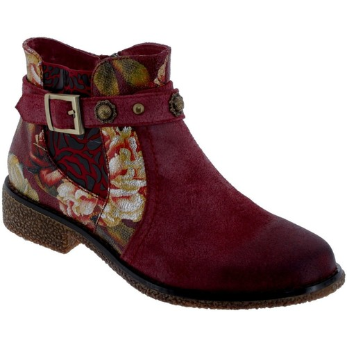 Zapatos Mujer Botines Laura Vita Coralie 04 Gamuzas burdeos