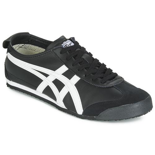 Zapatos Zapatillas bajas Onitsuka Tiger MEXICO 66 LEATHER Negro / Blanco