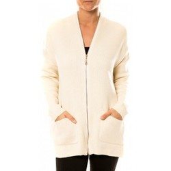 textil Mujer Chaquetas de punto Tcqb Gilet Lely Wood L586 Blanc Blanco