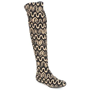 Zapatos Mujer Botas a la rodilla Missoni SM05 Beige