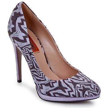 Zapatos Mujer Zapatos de tacón Missoni SM113 Beige / Lilas