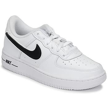 Zapatos Niños Zapatillas bajas Nike AIR FORCE 1-3 PS Blanco / Negro