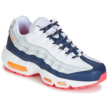 Zapatos Mujer Zapatillas bajas Nike AIR MAX 95 W Blanco / Azul / Naranja