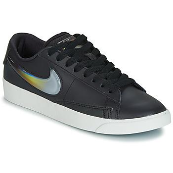 Zapatos Mujer Zapatillas bajas Nike BLAZER LOW LX W Negro / Plateado